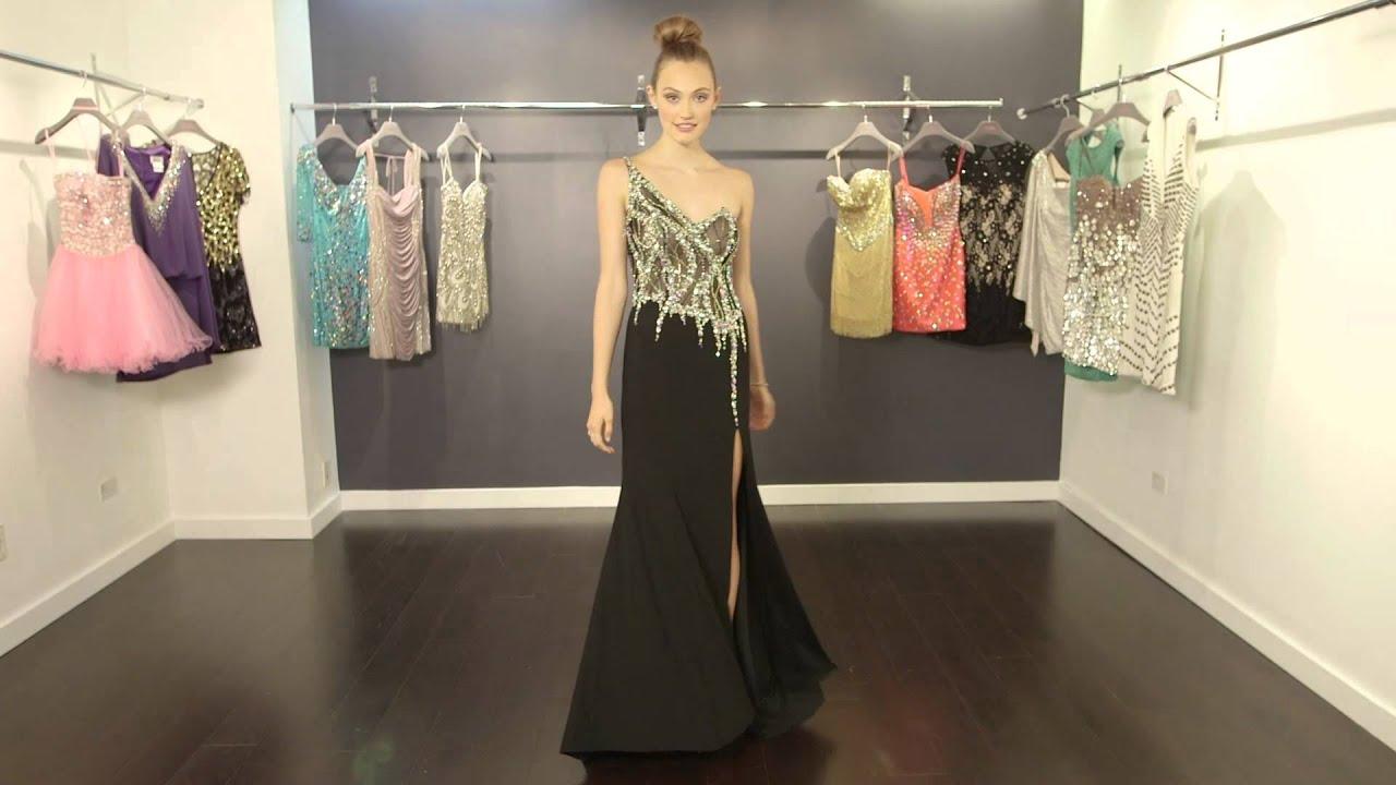 One shoulder Prom Dress JVN91220   JVN by Jovani - YouTube