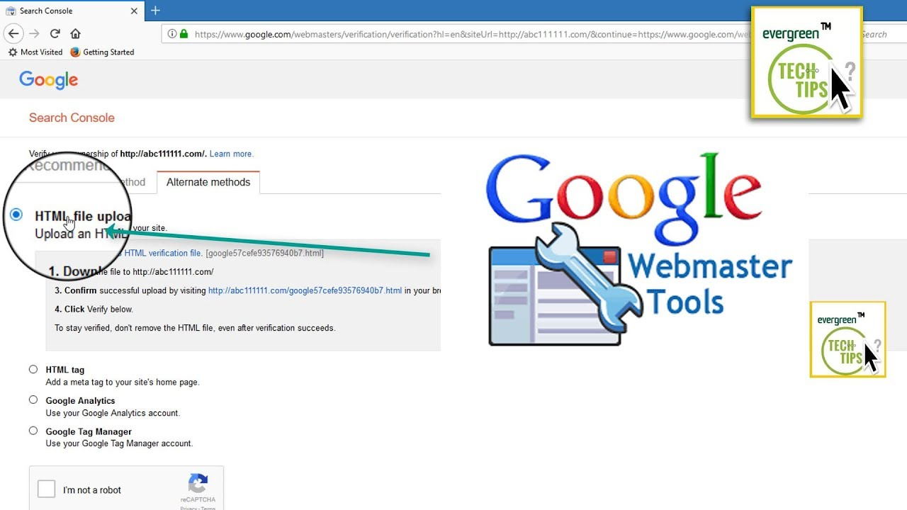 how to add google webmaster tools to website