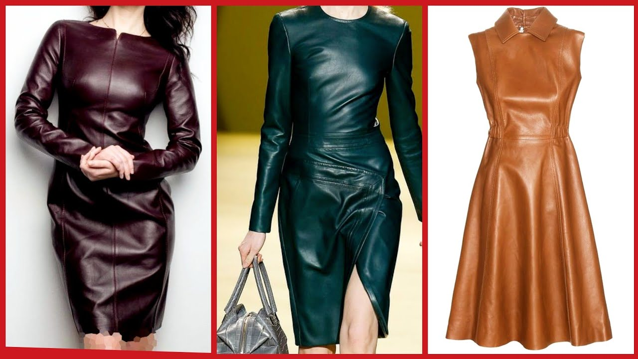 [VIDEO] - Leather skirts design & outfit ideas || Women/girls fashion inspiration 5