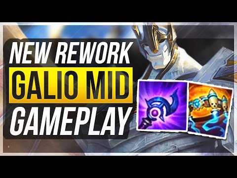GALIO REWORK BROKEN?! - Full AP Mid Gameplay | League of Legends