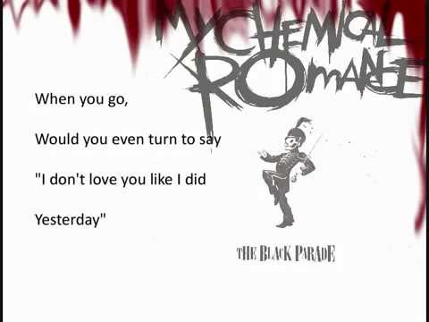 My Chemical Romance   I Don't Love You lyrics 1