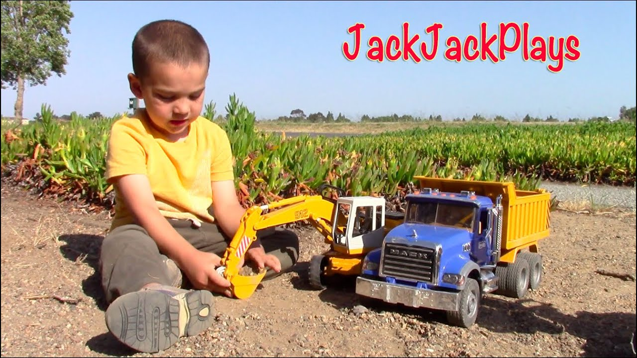 construction trucks for kids bruder toy excavators dump truck