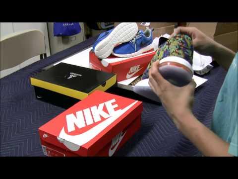 Triple Unboxing!!! EBay Sneaker Haul - Roshe Run Photo Blue - KD VI Floral - Kobe 8 Green Glow