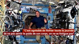 Thomas Pesquet en apesanteur dans la Station spatiale internationale (ISS)