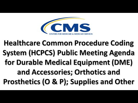 2016 Jun 2nd, HCPCS Public Meeting Agenda for DME, O&P