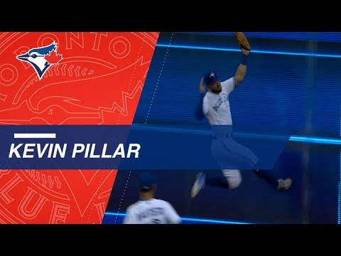 Pillar knows how to flash the leather for Blue Jays