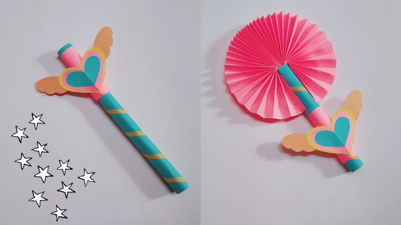 Cool Paper Craft Idea   Simple and Easy Paper Fan