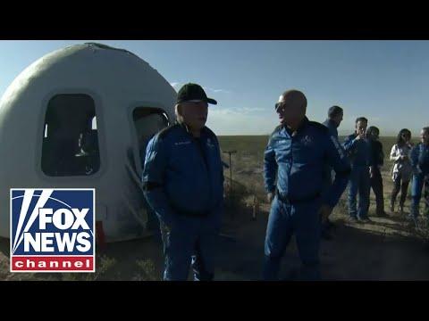 William Shatner, Blue Origin crew emerge from space capsule