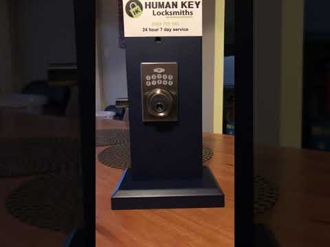 Carbine Spin to lock Digital Deadbolt Human Key Locksmiths Melbourne