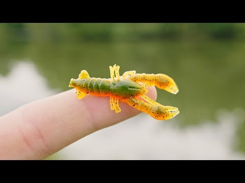 Worlds SMALLEST Crawfish Lure!!! (AWESOME)