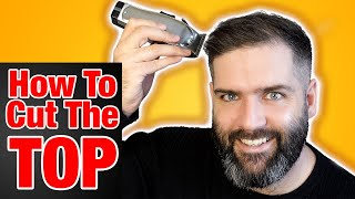 How to cut tнe TOP of your own HAIR the easy way 2021   The best technique #cuttingyourownhairmen