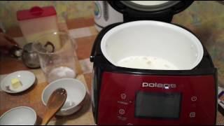 """Домашние видео рецепты -  молочная каша """"3 злака"""" в мультиварке"""