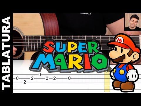 como tocar Super Mario Bros en guitarra COMPLETO con TABLATURA TAB