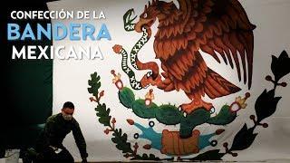 Confección de la bandera mexicana