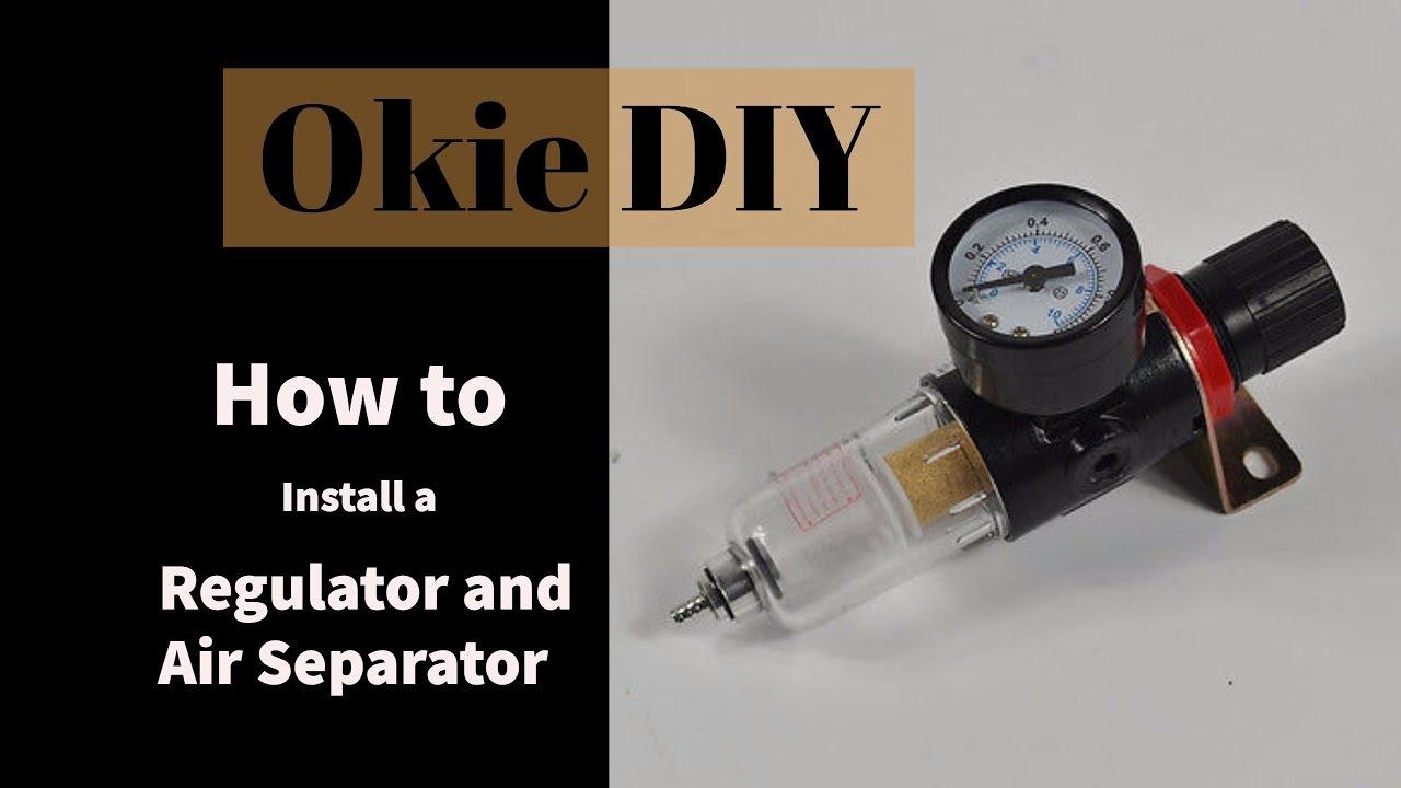 1//4 Mini Air Pressure Regulator w// Free Gauge Replacement