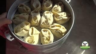 Манты с картошкой и мясом.  Подробный рецепт изготовления