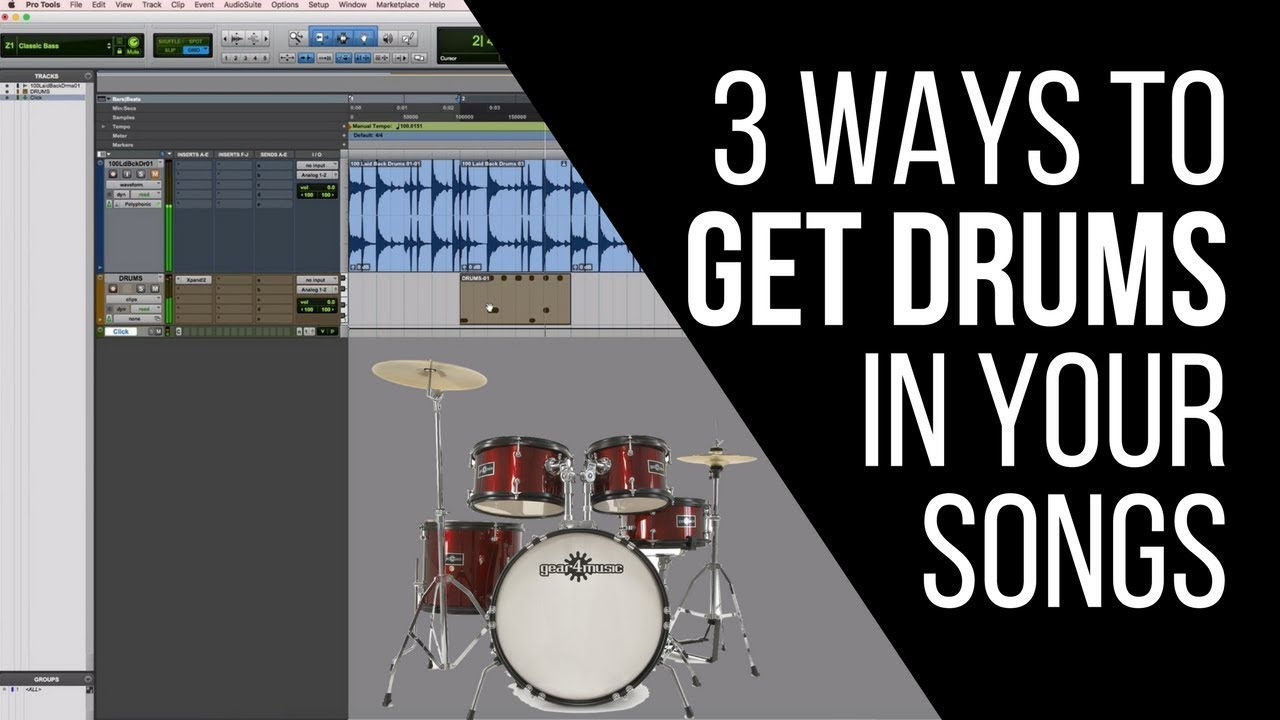 3 Ways To Get Drums For Your Songs (Without a Drum Kit