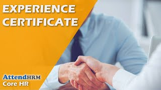 Experience Certificate