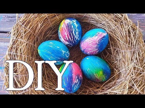 Яйца на Пасху легко и интересно!) Простой и необычный способ покрасить пасхальные яйца.