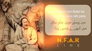 NUSRAT FATAH ALI KHAN LEGEND ❤ , BEST POETRY , NFAK , LINES , qawali , nfaklines , nfak song