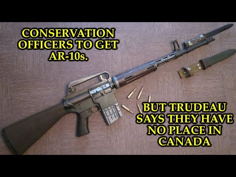 Yukon Conservation Officers to receive AR-10s, which Trudeau says have no place in Canada.