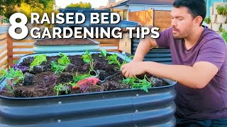 8 Of My BEST Raised Bed Gardening Tips