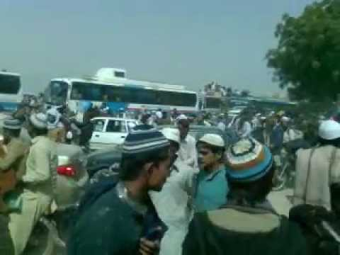 Ijtima Hyderabad Pak Highway blocked