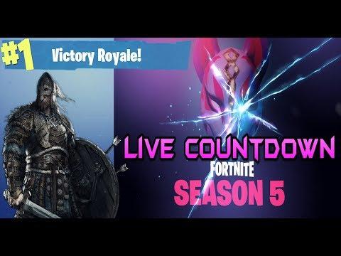 Fortnite Live Season 5 Countdown Worlds Collide In 2 Days Youtube