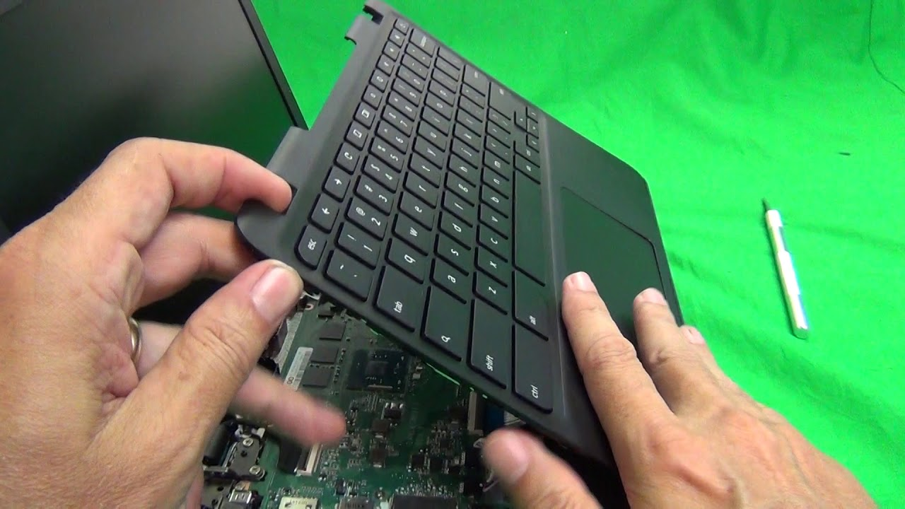 Lenovo N23 Chromebook Keyboard Assembly and Battery Replacement Procedure