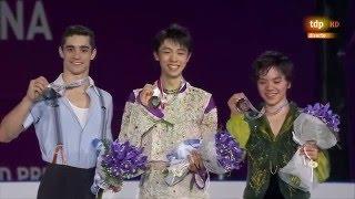 Yuzuru Hanyu Victory Ceremony Final Grand Prix 2015 Barcelona