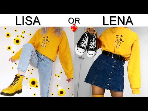 LISA OR LENA ? Back To School Outfit Ideas. Pinkazina