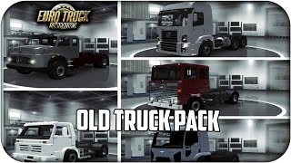 Pack of old trucks Br 13 camiones | euro truck simulator 2 | 1.23 - 1.24