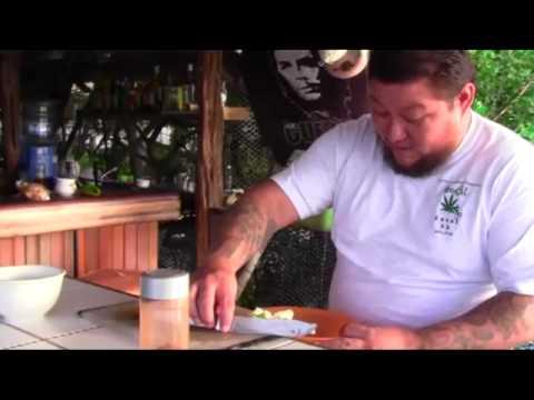 Conch eye ceviche only at Barrel Bar, San Pedro, Belize.mp4