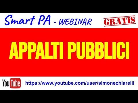 """SmartPA - Lezione 09 """"La disciplina degli appalti pubblici: introduzione"""" (02/04/2020)"""