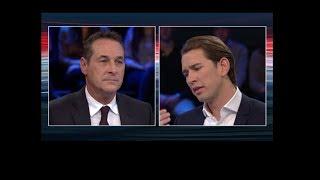 Konfrontation Sebastian Kurz (ÖVP) - Heinz Christian Strache (FPÖ)  10.10.2017 www.gigalion.de