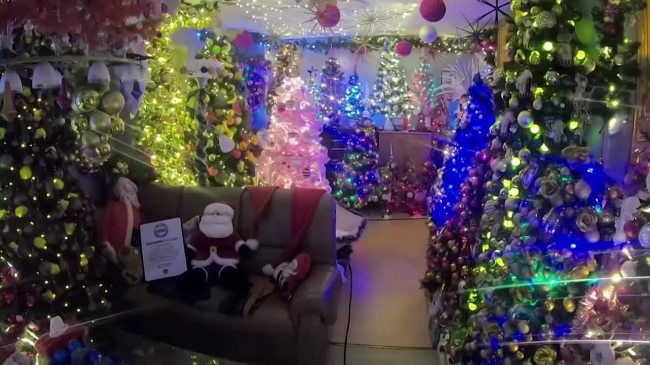 Ngôi nhà ở Đức lập kỷ lục thế giới về số cây Giáng Sinh