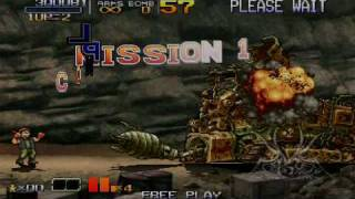 Metal Slug Anthology PSP - RemoteJoy Gameplay