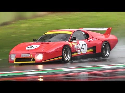 OnBoard a Ferrari 512 BB LM in wet conditions + 935 K3 Battle at Imola Circuit  !