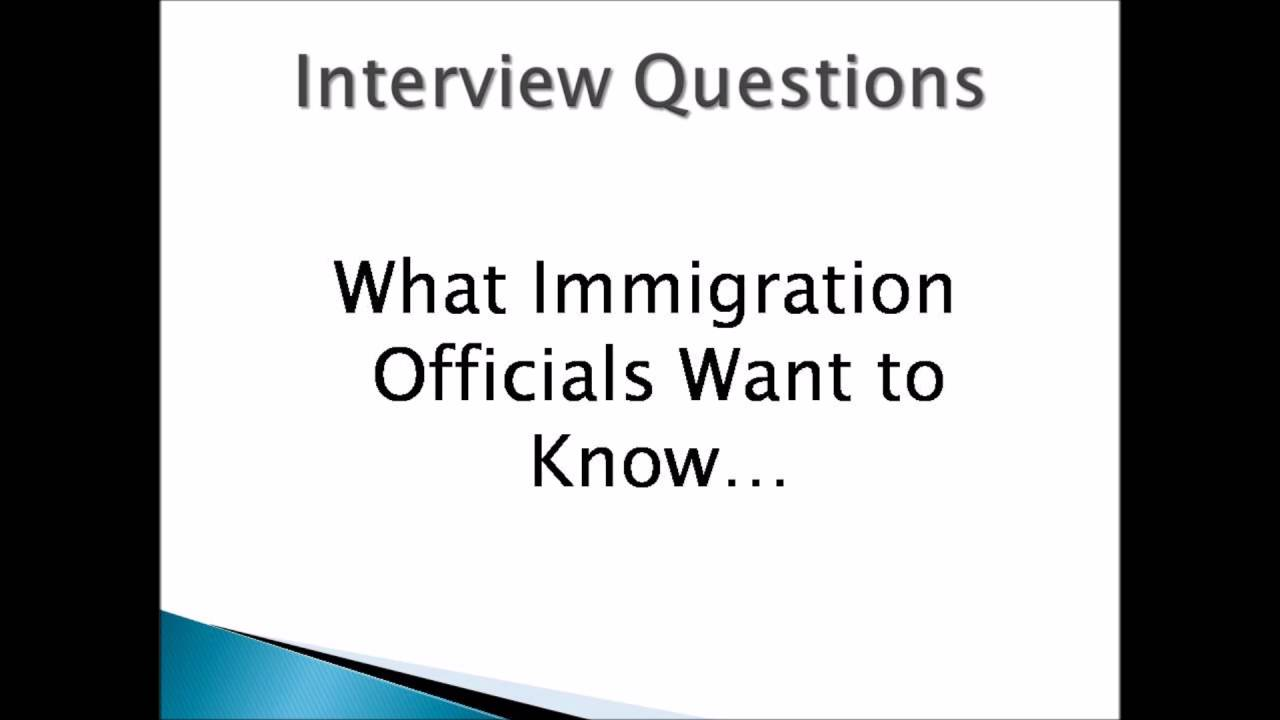 Marriage Based Green Card Interview Questions, Experience