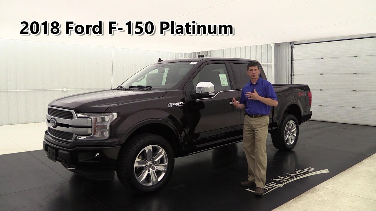 2018 ford f 150 platinum overview standard optional equipment