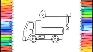How To Draw A Tow Truck for Kids 💙💜💖 Tow Truck Drawing and Coloring Pages for Kids