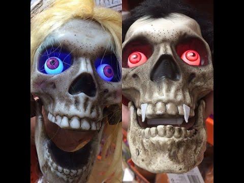 Talking Skulls At Home Depot Halloween 2016 San Bernardino Ca