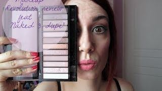Naked 3 Dupe/Makeup Revolution Review/Swatches/Demo! Οικονομικά καλλυντικά Thumbnail