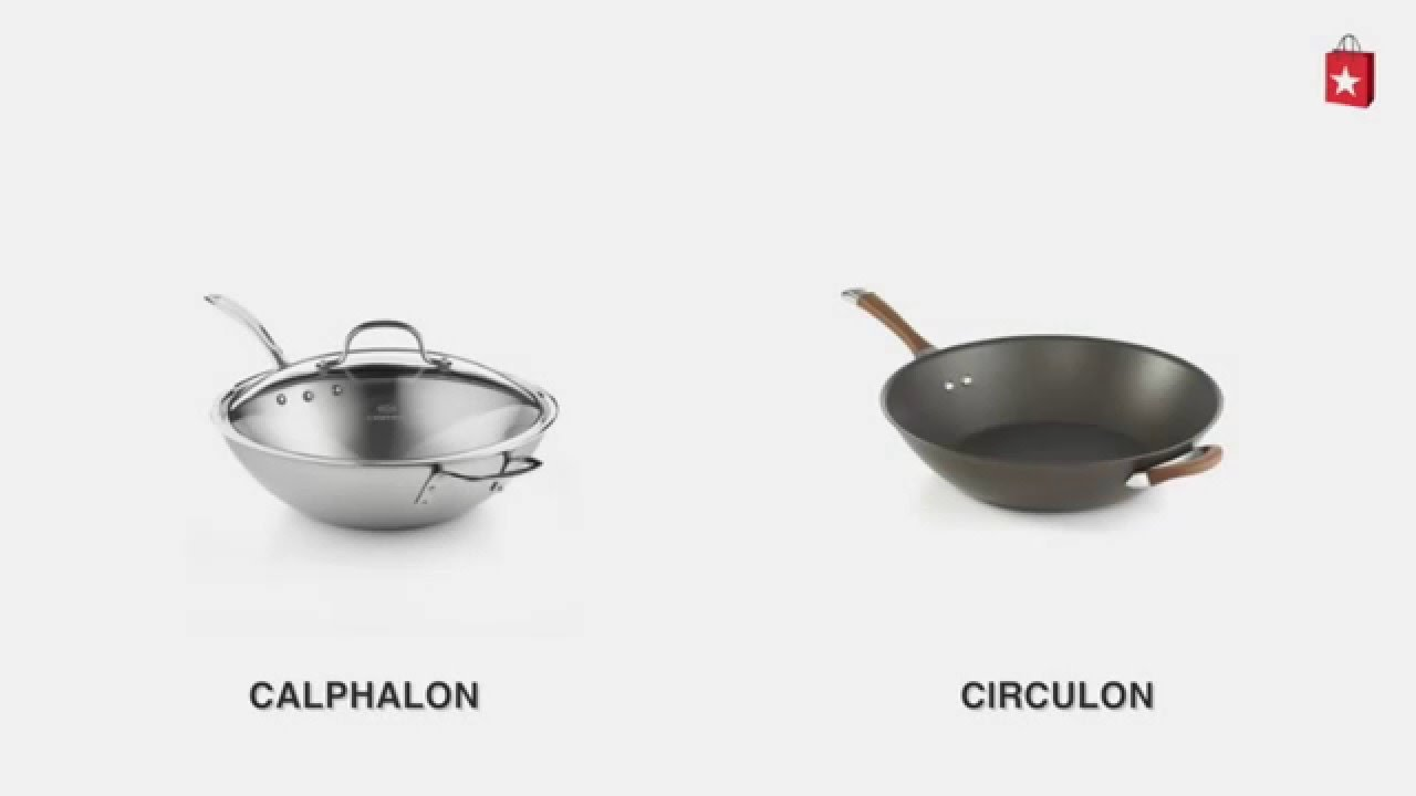 calphalon triply stainless steel 12 in covered stir fry comparison video - Calphalon Tri Ply Stainless Steel