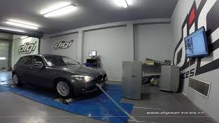 BMW F20 116D 1.6 116cv Reprogrammation Moteur @ 143cv Digiservices Paris 77 Dyno