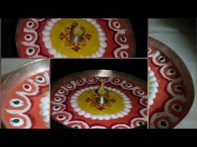 Instant decorative puja thali...