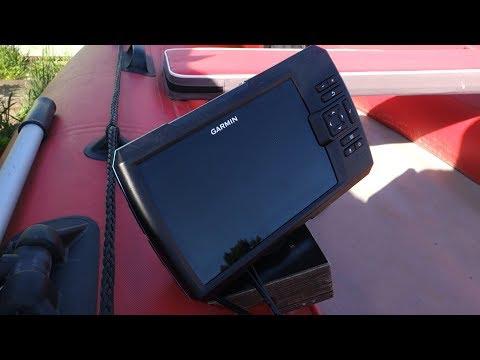 Установка эхолота Garmin на лодку ПВХ: крепление датчика, подключение аккумулятора