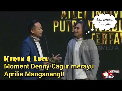 BAPER!! MOMENT DENNY CAGUR MERAYU APRILIA MANGANANG.. DI SMASH GAK YA?? - Indonesia Sport Award 2018