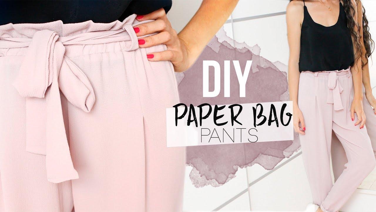 Diy Paper Bag Pants Como Hacer Un Pantalon Con Lazo En La Cintura Youtube