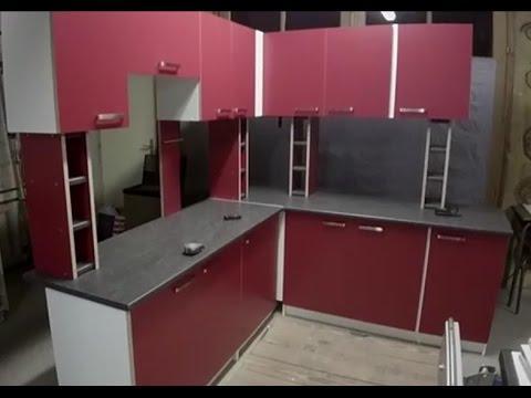 Fabrication d'une cuisine en mélaminé partie 4/Build modern kitchen Part 4